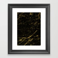 Black Gold Marble Framed Art Print