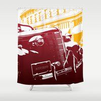 law Shower Curtains featuring The Law by Steel Graphics