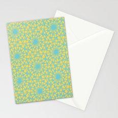 geometric vintage blue/orange Stationery Cards