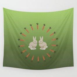 Carrots and Rabbits Wall Tapestry