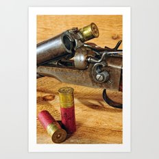 Double Barrel  Art Print