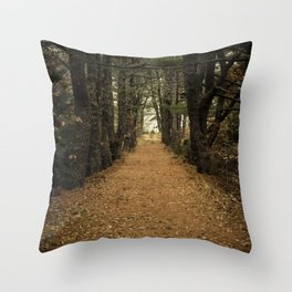 Pine Hill Path Throw Pillow