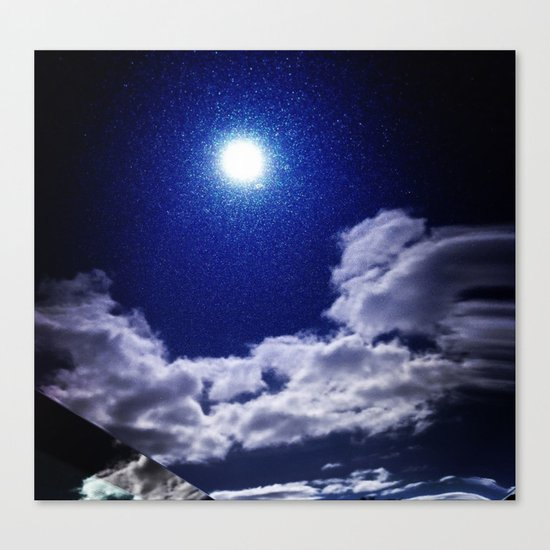 Signs in the Sky Collection I- in its original deep blue Canvas Print