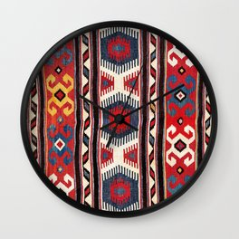 Kazak  Antique Southwest Caucasus Kilim Print Wall Clock