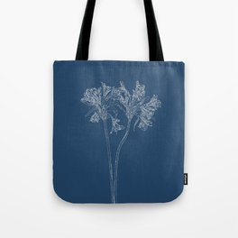 Parrot Lily Blueprint Tote Bag