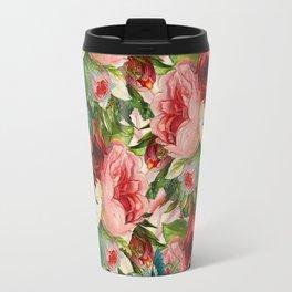 Colorful Floral Pattern | Je t'aime encore Travel Mug