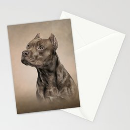 Funny American Staffordshire Terrier Stationery Cards
