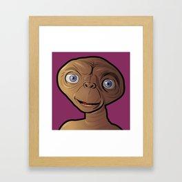Smiling ET Framed Art Print