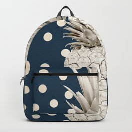 Gold Pineapple Polka Dots 2 Backpack