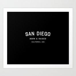 San Diego - CA, USA (Arc) Art Print
