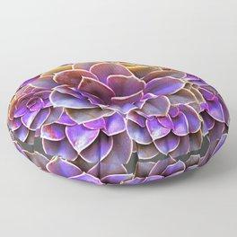 PURPLE-CREAM SUCCULENT ROSETTES Floor Pillow