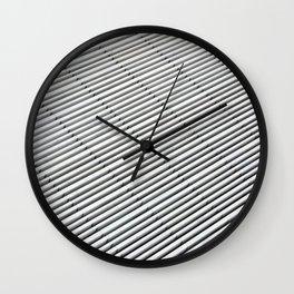 White strokes Wall Clock