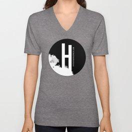 Hypertrophic Press Circular Logo Unisex V-Neck