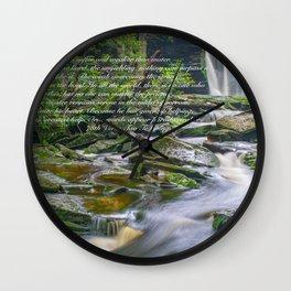 Zen Lao Tsu Quote Waterfall Nature Print Wall Clock