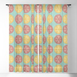 Juicy Citrus Sheer Curtain