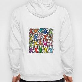 Homage to Keith Haring Acrobats II Hoody