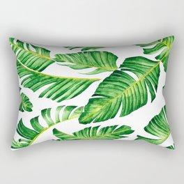 Banana Leaves pattern in watercolor Rectangular Pillow