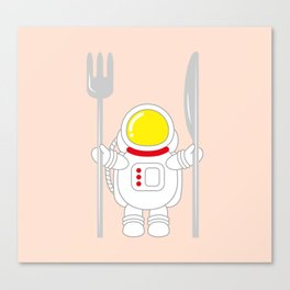 Space Odyssey | Astronaut Eats | Space Utensils | Galaxy Fork and Knife | pulps of wood Canvas Print
