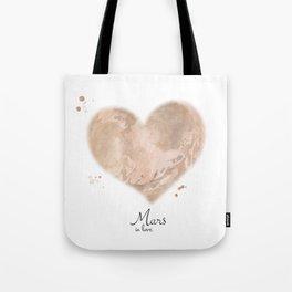 Mars in love Tote Bag