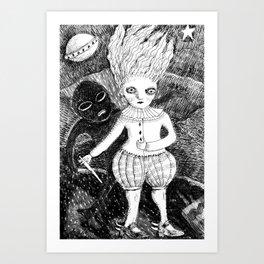 the yeti Art Print