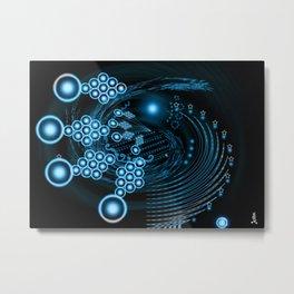 Abstract twirl Star Metal Print