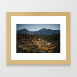 Midnight at Hot Creek Framed Art Print