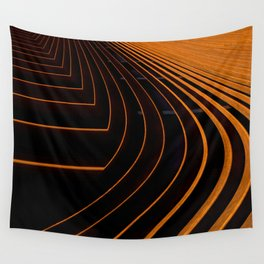 orange lines and shapes Wall Tapestry