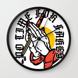 No Time For Fakes Wall Clock