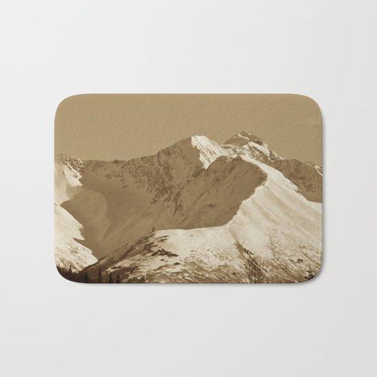 Majestic Mountain - Sepia Bath Mat