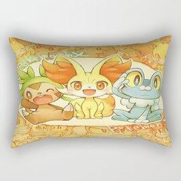 Frenniken Froakie Chespin Rectangular Pillow
