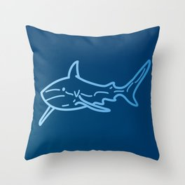 Shark wireframe Throw Pillow