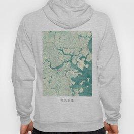 Boston Map Blue Vintage Hoody