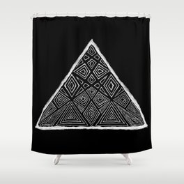 Root Two Triangle  Shower Curtain