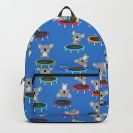 Koala Gymnasts On Trampolines Pattern Backpack