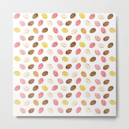 Love Donuts Metal Print