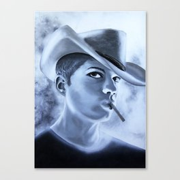 Ryan Phillipe Cowboy hat and a Fag Canvas Print