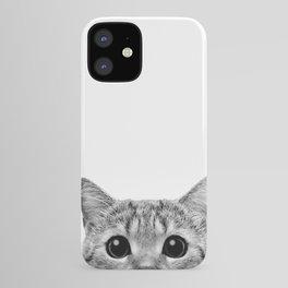 Cat Peeking Up iPhone Case
