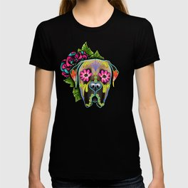Mastiff in Fawn - Day of the Dead Sugar Skull Dog T-shirt