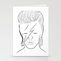 bowie Stationery Cards featuring Bowie by Luster