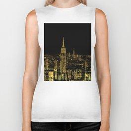 Abstract Gold City  Skyline Design Biker Tank