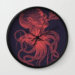 Octopussy Man under the Sea Abstract Concept Art Wall Clock