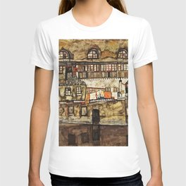 Egon Schiele - House Wall On The River T-shirt
