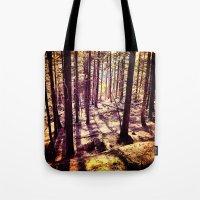 western Tote Bags featuring Western Woods by Ken Seligson