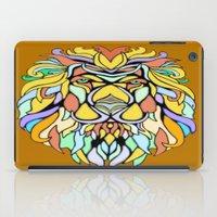 metallic iPad Cases featuring Metallic Lion by J&C Creations