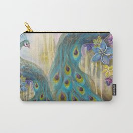 Jeweled Peacock Carry-All Pouch