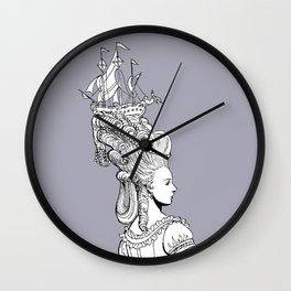Girl With Ship Wall Clock