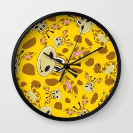 Cute Cartoon Giraffe Pattern Wall Clock
