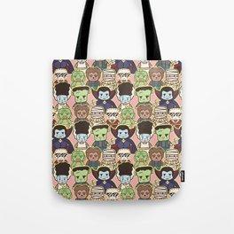 Kawaii Little Monsters Series 1 Pattern Print Tote Bag
