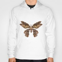 moth Hoodies featuring moth by Marie Lisborg