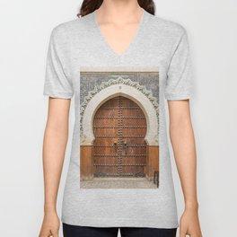 Doorway Number 30 - Fes, Morocco Unisex V-Neck